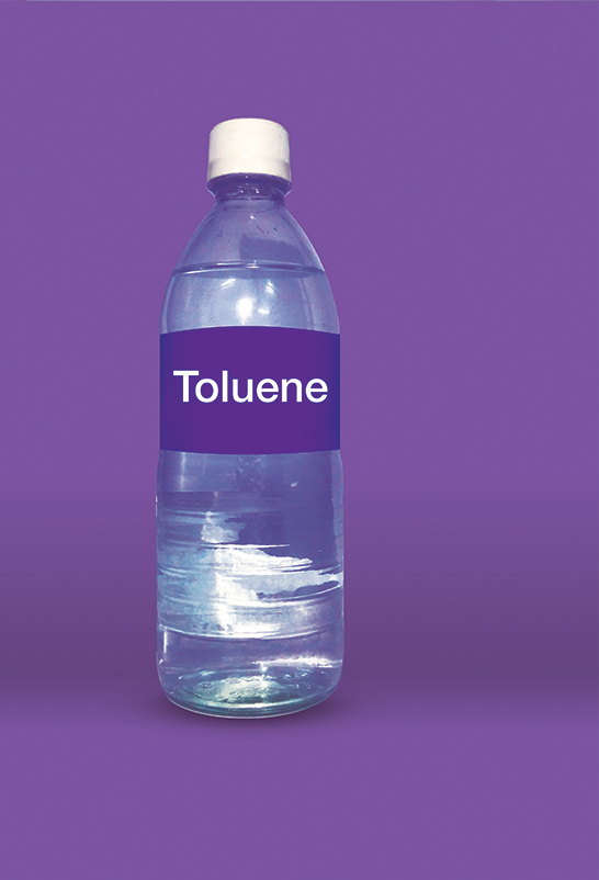 Toluene is an aromatic solvent widely used for paint, ink and adhesive formulations. 